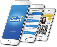Mobile Ticketing iPhones with My Mobile Tickets